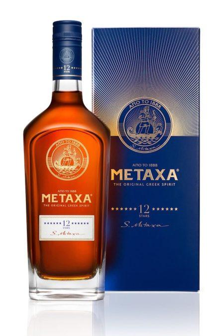 METAXA 12 Stars bottle and box. Courtesy METAXA.