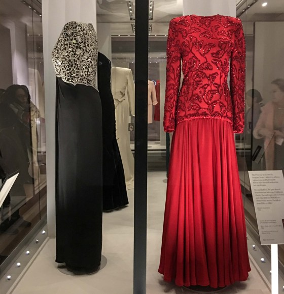 """Diana: Her Fashion Story"" examines the evolution of Princess Diana's style at an exhibition on display at Kensington Palace until the end of 2018. © Amy Laughinghouse"