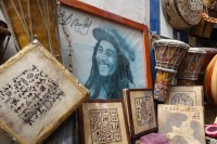 Although it's not certain if Bob Marley ever came to Essaouira, his band The Wailers visited the city's Gnaoua World Music Festival in 2004, and street buskers play Marley's iconic reggae here year round. Copyright Amy Laughinghouse.