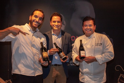 Vina Pomal winemaker Alejandro Lopez (centre), flanked by Mario Sandoval (left) and Marcos Moran (right). @MariedeChesse
