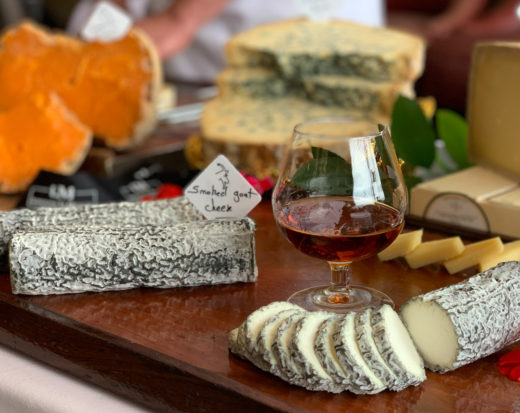 brandy and goat cheese