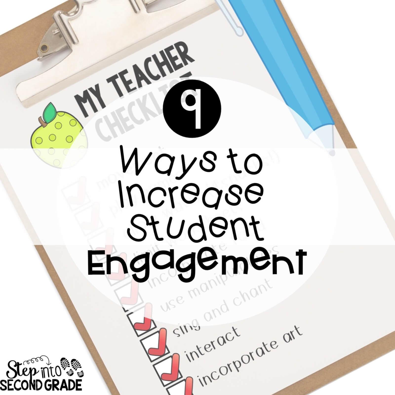 9 Ways to Increase Student Engagement - Amy Lemons [ 1600 x 1600 Pixel ]