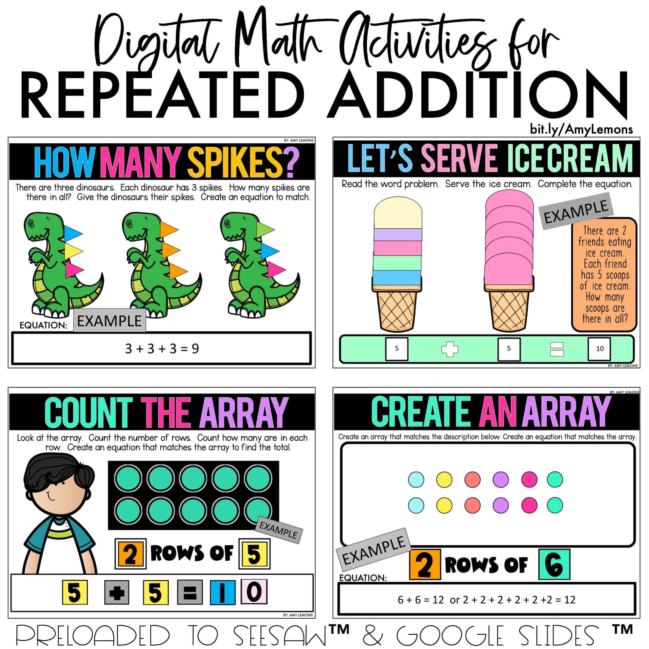 Digital Math Activities for Virtual Learning - Amy Lemons [ 2249 x 2249 Pixel ]