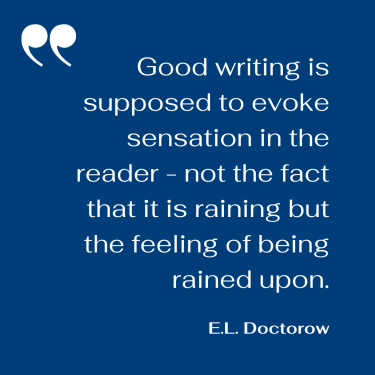 E.L. Doctorow quote about writing evoking sensation