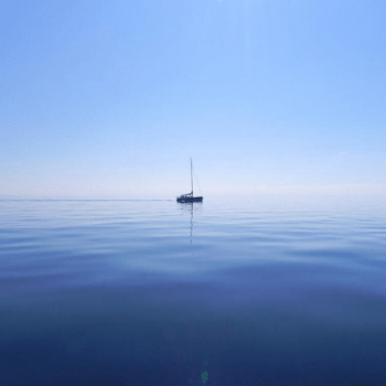 sailboat on flat seas - Work in Progress blog by Amy LeTourneur