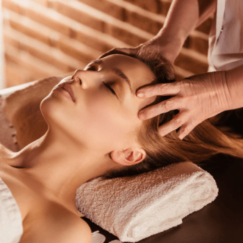 woman getting facial massage - Work in Progress blog by Amy LeTourneur