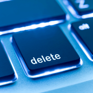 delete button - Work in Progress blog by Amy LeTourneur