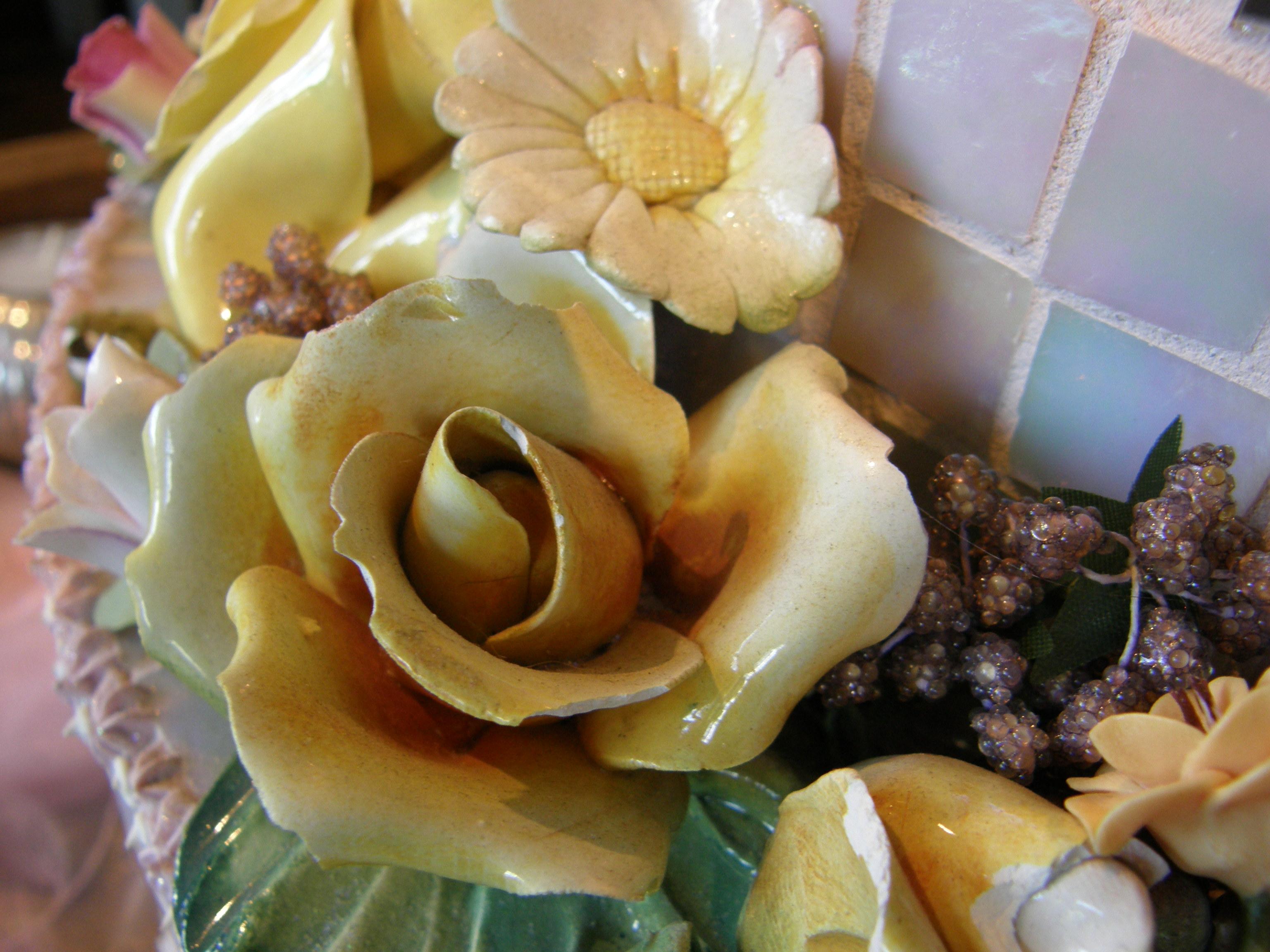 Porcelain flower detail