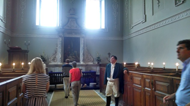 Being shown around the Chapel, like the Bertrams & Crawfords.