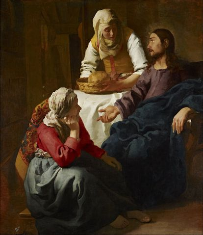 Christ in the House of Martha and Mary, 1654, Johannes Vermeer