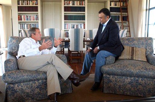 Prince_Bandar_bin_Sultan_with_G.W._Bush, White House Eric Draper 2002