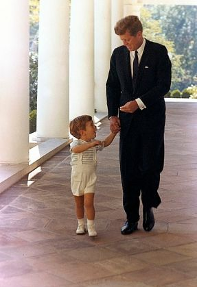 JFK and JFK Jr. at the White House in October 1963.  White House photo by Cecil Stoughton