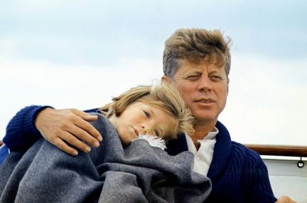 JFK with daughter Caroline in 1963.  White House photo by Cecil Stoughton