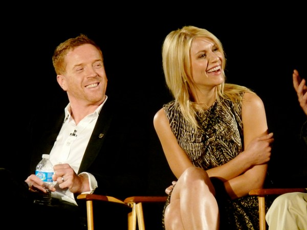 """Homeland"" cast members Damien Lewis and Clair Danes participate in a discussion at the Academy of Television Sciences on March 21, 2012.  Flickr photo by user starbright31."