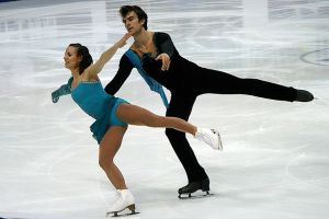 Canadian pair Meagan Duhamel and Eric Radford at the World Figure Skating Championships in 2011. Photo by Wikipedia user Luu