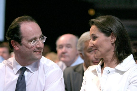 Future French president François Hollande and his long-time partner, Ségolène Royal, at a Socialist Party event in April 2007.  Flickr photo by Philippe Grangeaud