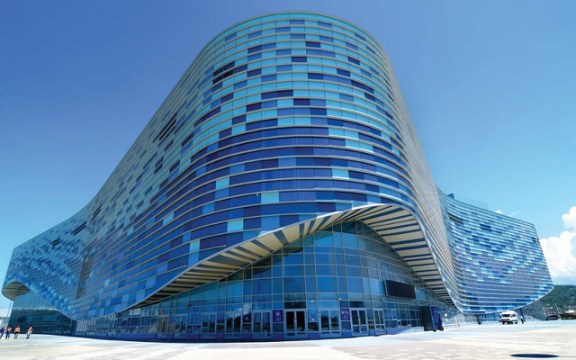 The Iceberg Skating Palace in Sochi, Russia, where the 2014 Olympic figure skating events will be held.  Flickr photo by Atos International