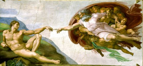 The Creation of Adam Michelangelo c. 1511 Sistine Chapel
