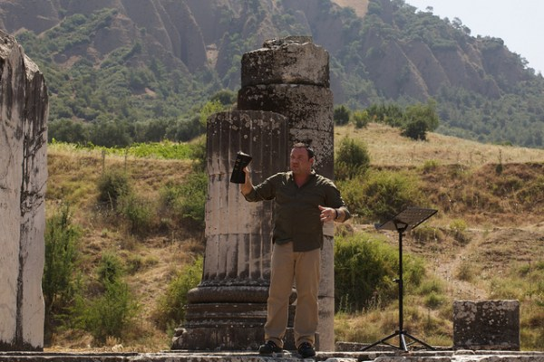 Mark Driscoll preaches at the remains of the Temple of Artemis in ancient Ephesus during a trip to Turkey in 2011. Flickr photo by Mars Hill Church Seattle