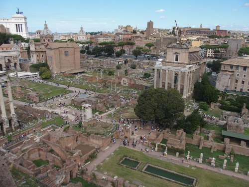 Ruins of the ancient Forum in Rome, Italy (Author photo)