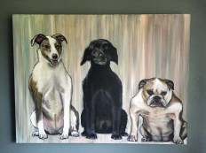 "Best Friends. 24"" x 18"". Commissioned painting."