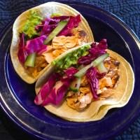 Grilled Cedar Plank Salmon Tacos