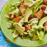 Creamy Avocado and Romaine Salad