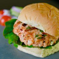Greek Salmon Burgers