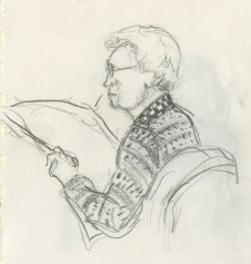 Airport sketch. Pencil on paper, 1992.