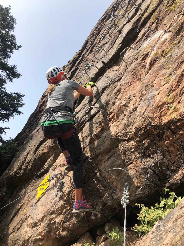amy nakos rock climbing