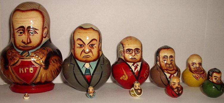 Matrioshka - Russian Nesting Dolls - Political leaders