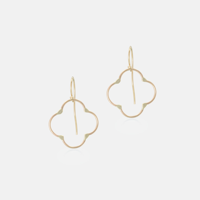 Clover-Earring-Yellow-Gold-Small