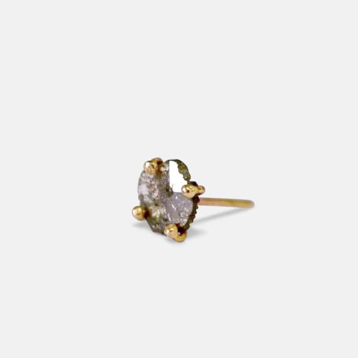 O.A.K Silver Black Diamond Stud - Amy Nordstrom