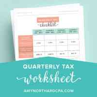 Estimated Tax Worksheet Calculator