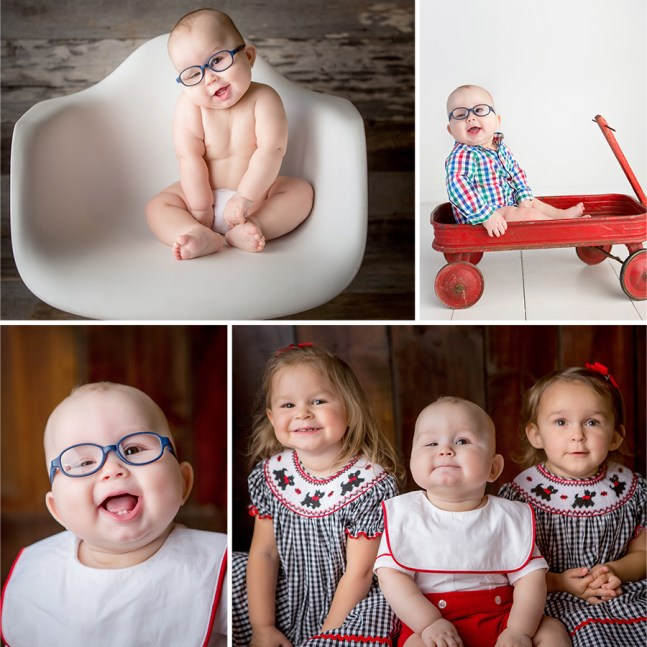 6-month session of baby and his siblings