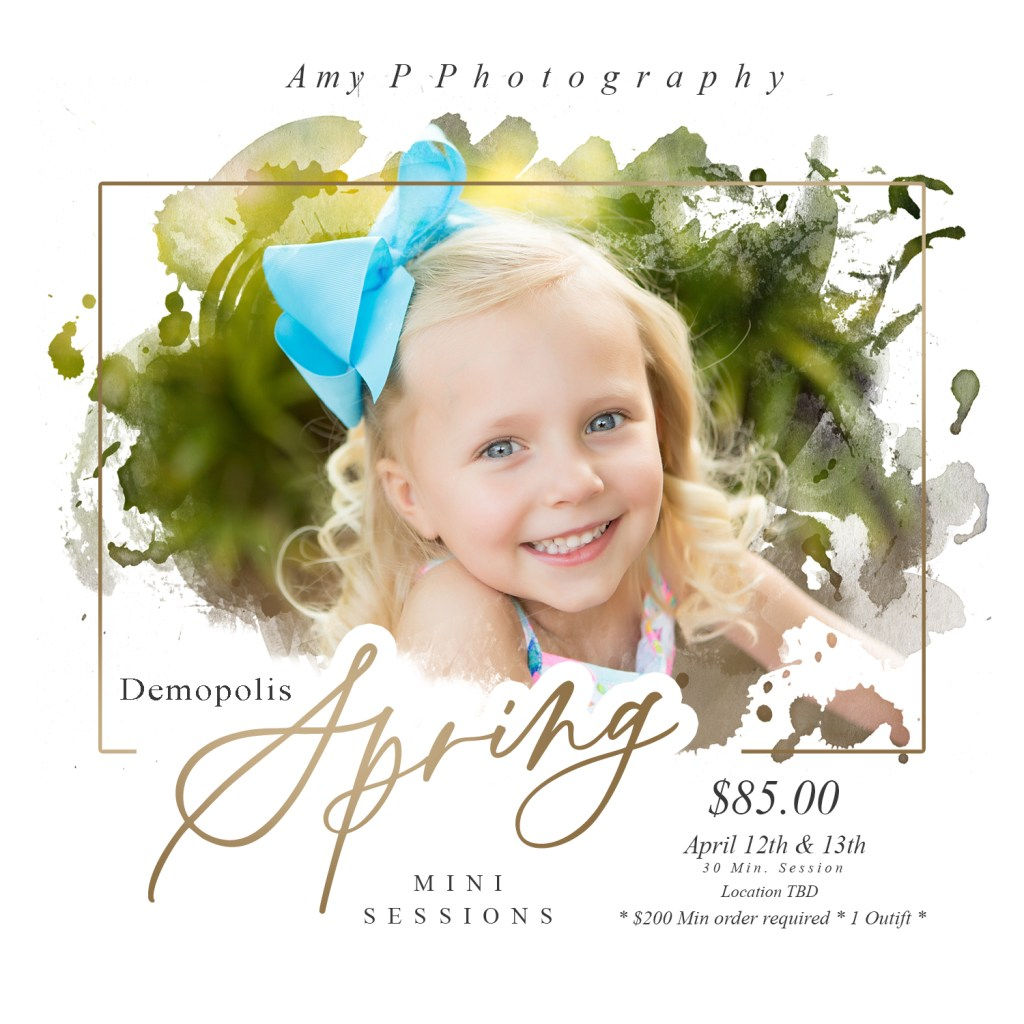 demopolis spring photo sessions
