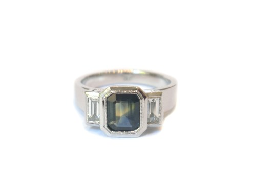 Carpe Diem, 2013, 18ct white gold, diamonds, party sapphire