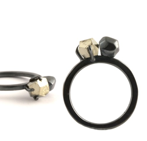 Fools Gold Rings, 2012, 925 silver, pyrite