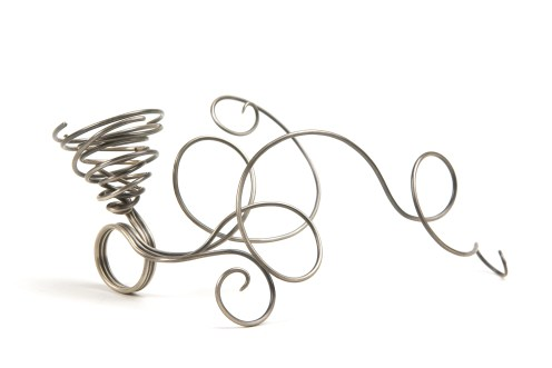 'It's a twister! It's a twister!', 2008, 9ct yellow gold, oxidised 925 silver