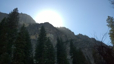 The beautiful sun peaking of a ledge, wishing it could be with us.