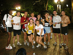 Me and Steve with our running group-post race.