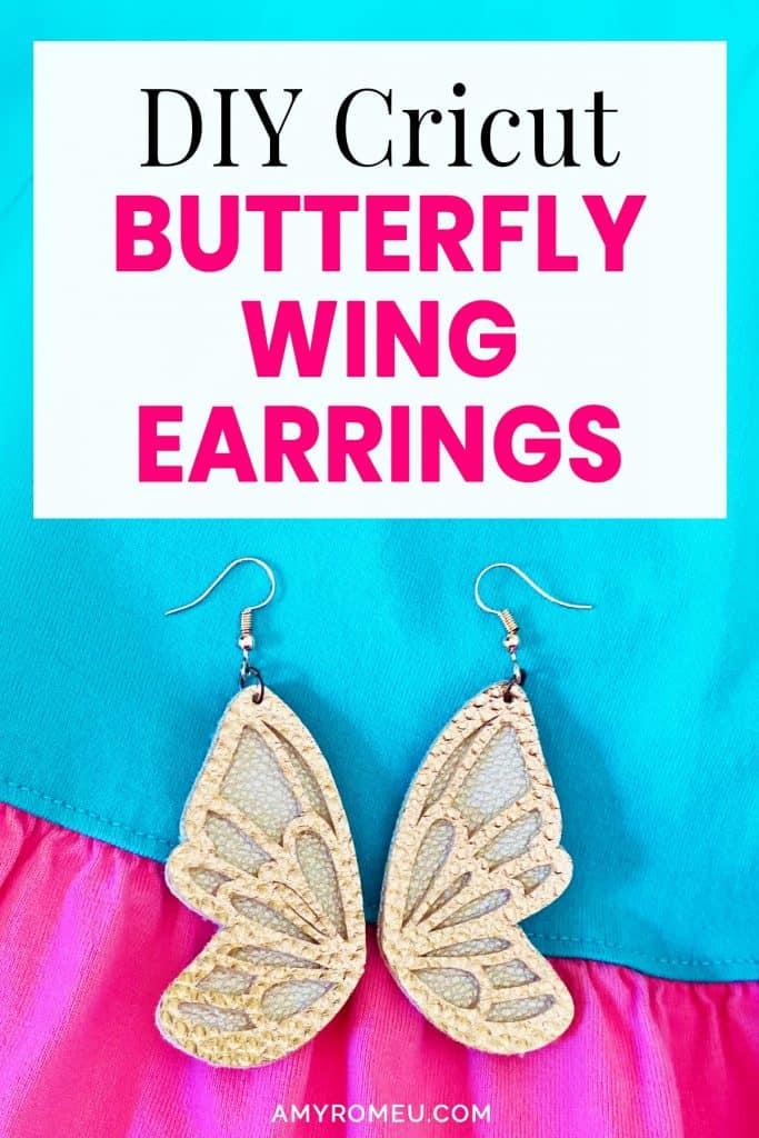Download DIY Cricut Faux Leather Butterfly Earrings - Amy Romeu