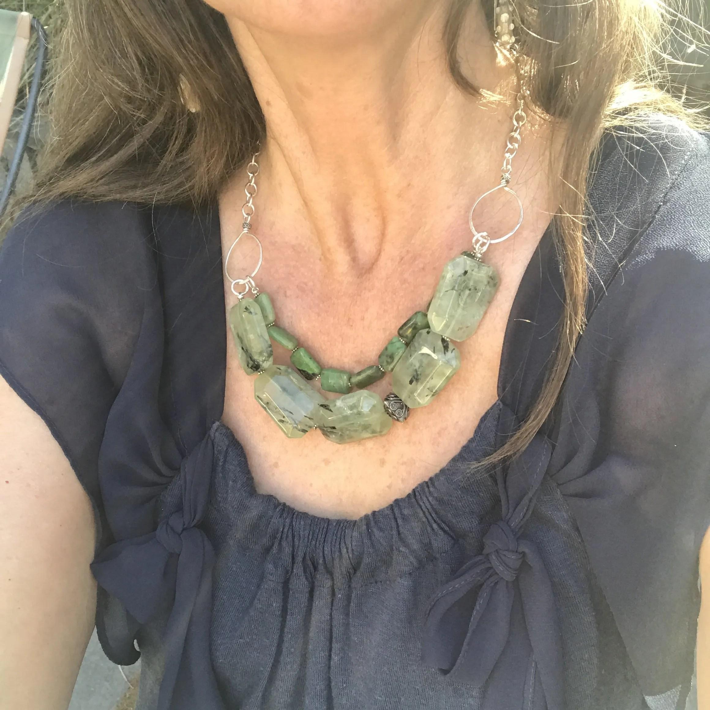 Prehnite Chunky Necklace