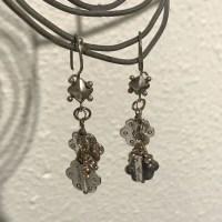 Sterling Floral Earrings