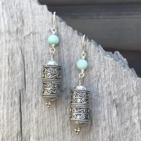 Prayer Wheel Earrings