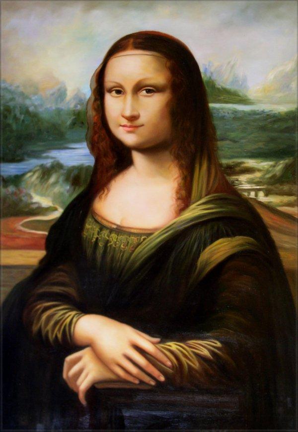 Framed Da Vinci Mona Lisa Repro Quality Hand Painted Oil