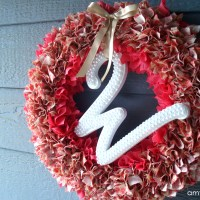 DIY beaded initial wreath