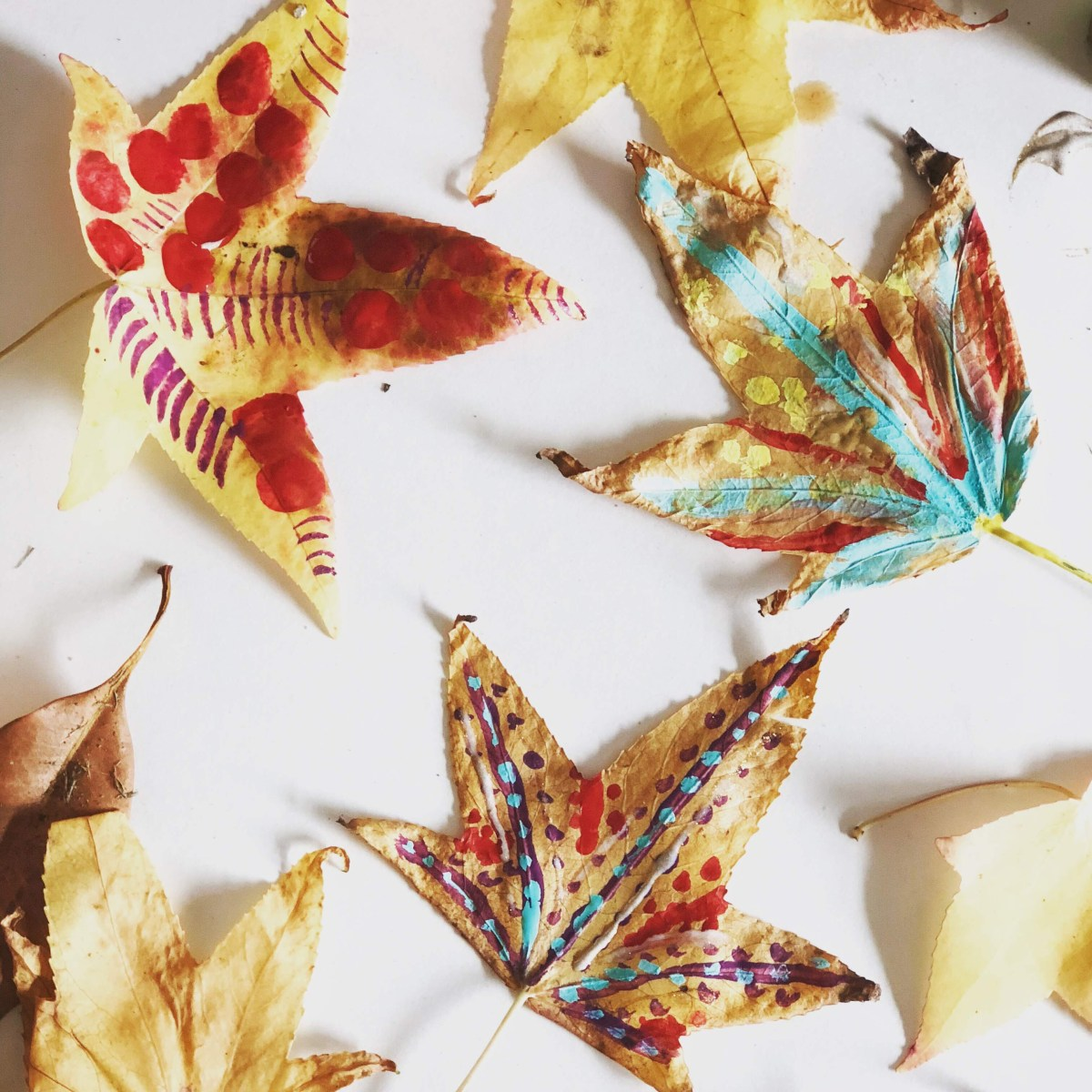 Painting Fall Leaves, a tutorial