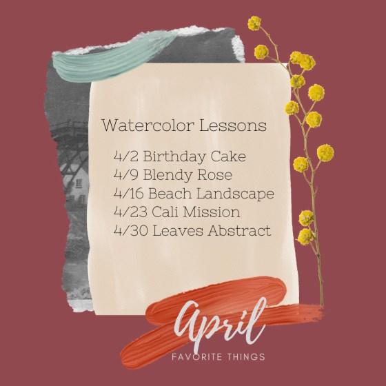 Watercolor Schedule