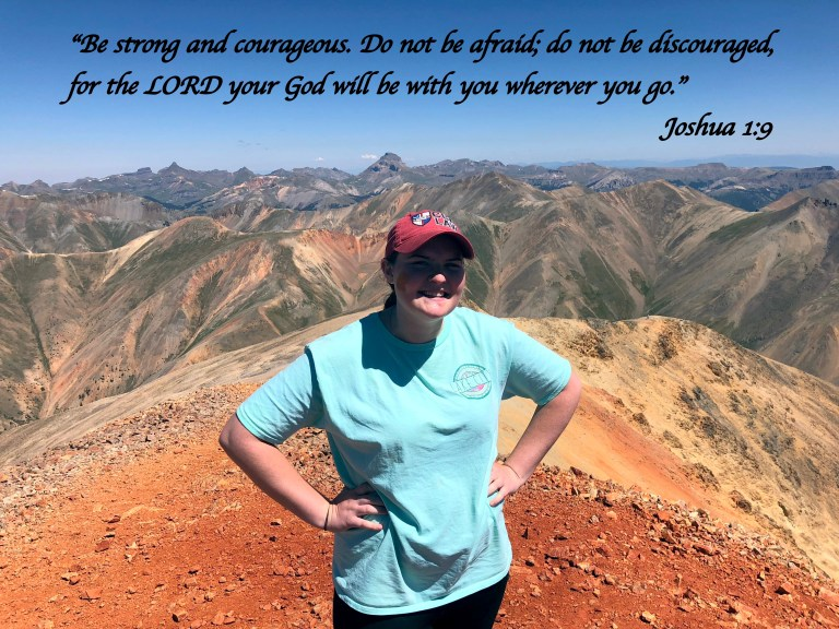 Be strong and courageous Joshua 1:9